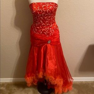 Panoply Red Sequin Prom Dress
